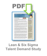 Latest Lean and Six Sigma Talent Demand Study